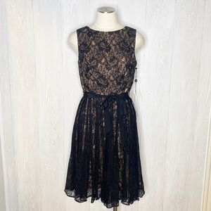 Adrianna Papell | NWT Black Lace Fit & Flare Dress